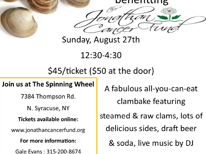 Clams for Cancer: August 27th